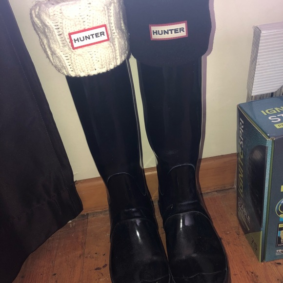 search for genuine amazon top-rated cheap Black, gloss, tall Hunter boots & socks